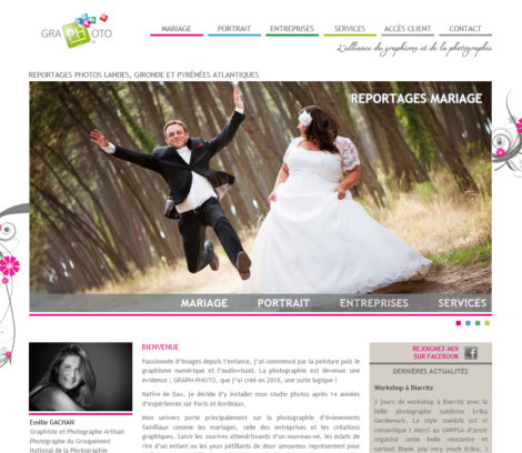 Page d'accueil du site de Graph-photo